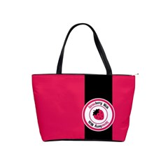 Brand Ribbon Black With Pink Classic Shoulder Handbag