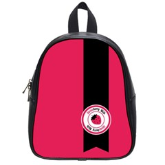 Brand Ribbon Black With Pink School Bag (Small)