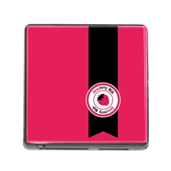 Brand Ribbon Black With Pink Memory Card Reader With Storage (square)