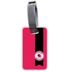Brand Ribbon Black With Pink Luggage Tag (one side)