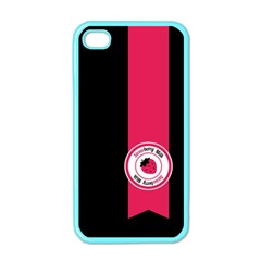 Brand Ribbon Pink With Black Apple iPhone 4 Case (Color)