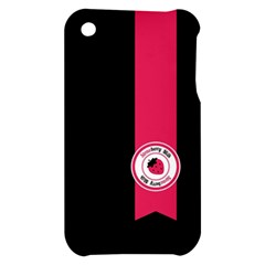 Brand Ribbon Pink With Black Apple iPhone 3G/3GS Hardshell Case