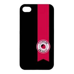 Brand Ribbon Pink With Black Apple Iphone 4/4s Hardshell Case