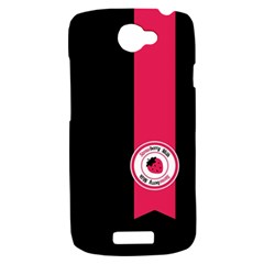 Brand Ribbon Pink With Black HTC One S Hardshell Case
