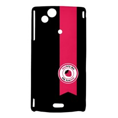 Brand Ribbon Pink With Black Sony Ericsson Xperia Arc Hardshell Case
