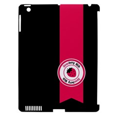 Brand Ribbon Pink With Black Apple Ipad 3/4 Hardshell Case (compatible With Smart Cover)