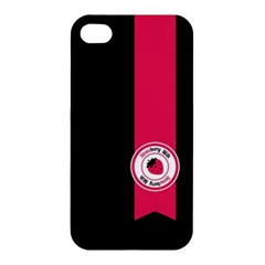 Brand Ribbon Pink With Black Apple iPhone 4/4S Premium Hardshell Case