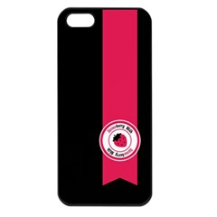 Brand Ribbon Pink With Black Apple iPhone 5 Seamless Case (Black)
