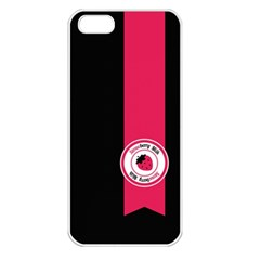 Brand Ribbon Pink With Black Apple Iphone 5 Seamless Case (white)