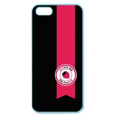 Brand Ribbon Pink With Black Apple Seamless Iphone 5 Case (color)