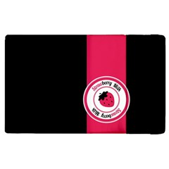 Brand Ribbon Pink With Black Apple iPad 2 Flip Case