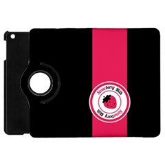 Brand Ribbon Pink With Black Apple iPad Mini Flip 360 Case