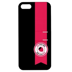 Brand Ribbon Pink With Black Apple Iphone 5 Hardshell Case With Stand