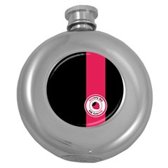 Brand Ribbon Pink With Black Hip Flask (5 oz)