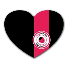 Brand Ribbon Pink With Black Mousepad (heart)