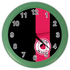 Brand Ribbon Pink With Black Color Wall Clock