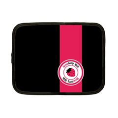 Brand Ribbon Pink With Black Netbook Case (Small)