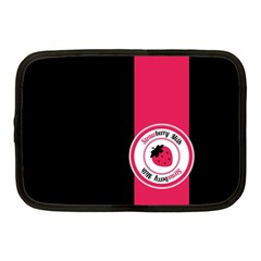 Brand Ribbon Pink With Black Netbook Case (Medium)