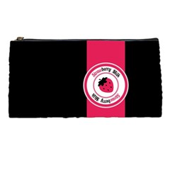 Brand Ribbon Pink With Black Pencil Case