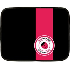 Brand Ribbon Pink With Black Mini Fleece Blanket(Two Sides)