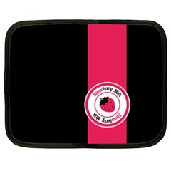 Brand Ribbon Pink With Black Netbook Case (xxl)