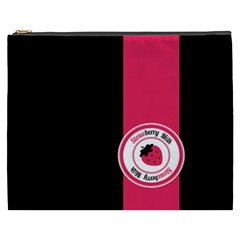 Brand Ribbon Pink With Black Cosmetic Bag (XXXL)