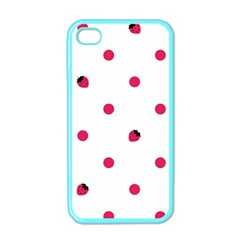 Strawberry Dots Pink Apple Iphone 4 Case (color)