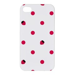 Strawberry Dots Pink Apple Iphone 4/4s Hardshell Case