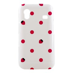 Strawberry Dots Pink Samsung Galaxy Ace S5830 Hardshell Case