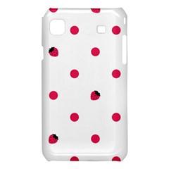 Strawberry Dots Pink Samsung Galaxy S i9008 Hardshell Case
