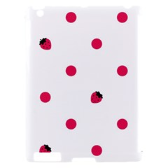Strawberry Dots Pink Apple iPad 2 Hardshell Case (Compatible with Smart Cover)