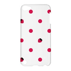 Strawberry Dots Pink Apple iPod Touch 5 Hardshell Case