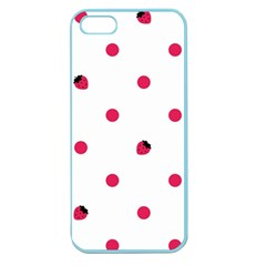Strawberry Dots Pink Apple Seamless Iphone 5 Case (color)