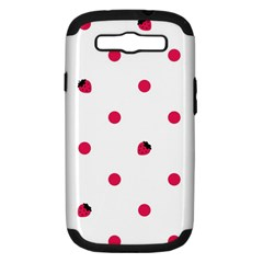 Strawberry Dots Pink Samsung Galaxy S Iii Hardshell Case (pc+silicone)