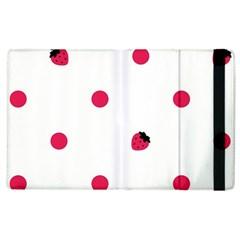Strawberry Dots Pink Apple iPad 3/4 Flip Case