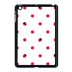Strawberry Dots Pink Apple Ipad Mini Case (black)