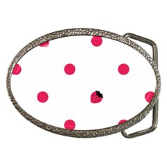 Strawberry Dots Pink Belt Buckle
