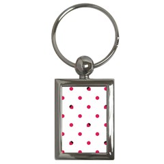 Strawberry Dots Pink Key Chain (Rectangle)