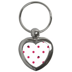 Strawberry Dots Pink Key Chain (Heart)