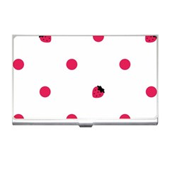 Strawberry Dots Pink Business Card Holder