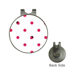 Strawberry Dots Pink Golf Ball Marker Hat Clip