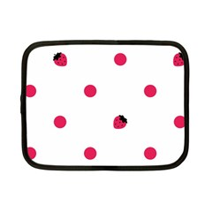 Strawberry Dots Pink Netbook Case (Small)