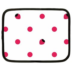 Strawberry Dots Pink Netbook Case (Large)
