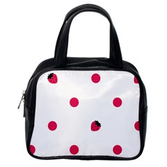 Strawberry Dots Pink Classic Handbag (One Side)