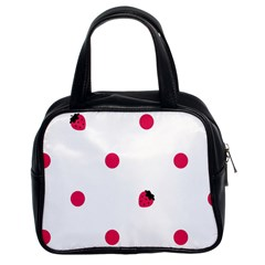 Strawberry Dots Pink Classic Handbag (Two Sides)