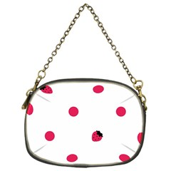 Strawberry Dots Pink Chain Purse (one Side)