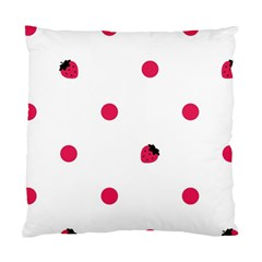 Strawberry Dots Pink Cushion Case (Two Sides)
