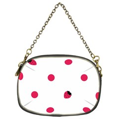 Strawberry Dots Pink Chain Purse (two Sides)