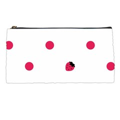 Strawberry Dots Pink Pencil Case