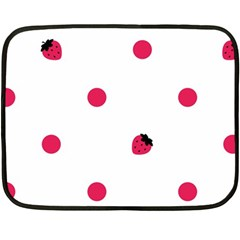 Strawberry Dots Pink Mini Fleece Blanket(two Sides)